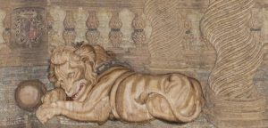 Paño procedente del convento de Santa Teresa. Exposición Histórico-Europea. Madrid, 1892-93. Museo Arqueológico Nacional, Madrid, Nº Inv.: 52690. Fotografía: Fernando Velasco Mora.