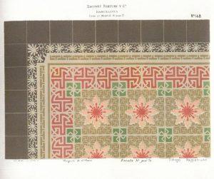 Diseño de Josep Pascó para Escofet, Tejera y Cía. Elegido para salón chaflán. Museo Cerralbo, Madrid. Fotografía: Jordi Griset Moro.