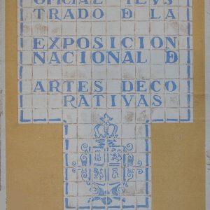 Portada del catálogo de la Exposición Nacional de Artes Decorativas de 1911. Fotografía: Abraham Rubio Celada.