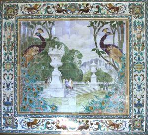 Mural de Daniel Zuloaga. Primer premio en la Exposición Nacional de Artes Decorativas. Madrid, 1911. Fotografía: Abraham Rubio Celada.